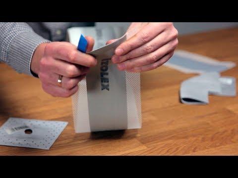 Уплотнительная лента для швов Izolex youtube