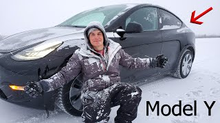 Tesla Model Y Durability Test - Off Roading on Arctic ICE?!