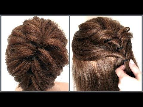 Прическа на короткие волосы разной длинны.Легкий способ.Hairstyle for short hair.Easy Way
