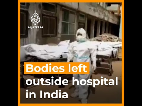 Bodies of COVID victims left outside hospital in India | AJ #shorts