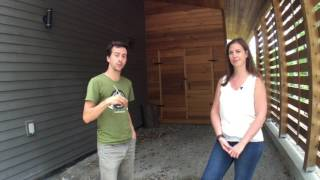 Visite de la maison neutre en carbone