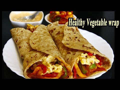 Healthy Veg wrap | Easy Protein pack Breakfast Recipe | MadhurasRecipe | Ep – 634