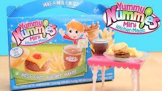 Burger Maker Toy Yummy Nummies Best Ever Burger Fries Soda Kit DIY Make Food