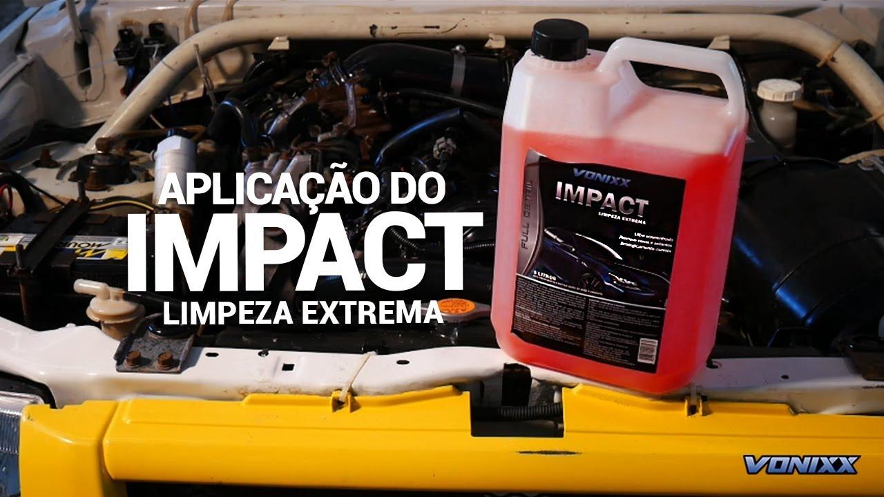 Aplicação do Impact - Poder extremo para a limpeza do seu veículo