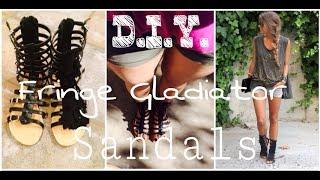 Jeffrey Campbell Inspired D.I.Y. Top Fringe Gladiator Sandals