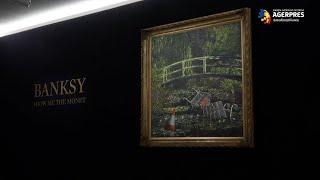 Un tablou de Banksy, care parodiază seria ''Les Nympheas'' a lui Monet, vândut cu 8,5 milioane de euro