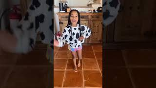 CALI TEACHES KIRAH TIKTOK DANCE #shorts