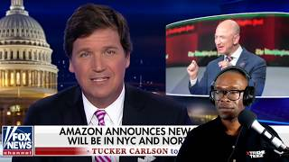Tucker Carlson Agrees With Alexandria Ocasio Cortez About Amazon Getting Unfair Tax Breaks, I Don't!