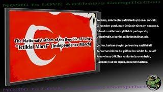 "Turkey National Anthem ""Istiklal Marsi"" INSTRUMENTAL with lyrics"