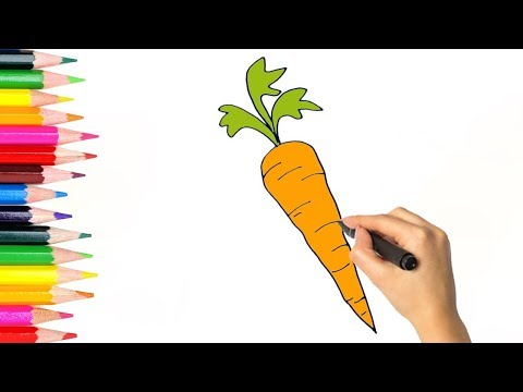 How To Draw A Carrot L Carrot Easy Drawing For Kids L Vegetable