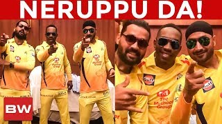 Harbhajan & Bravo in Rajinikanth Style   NERUPPU DA!!   RK 60