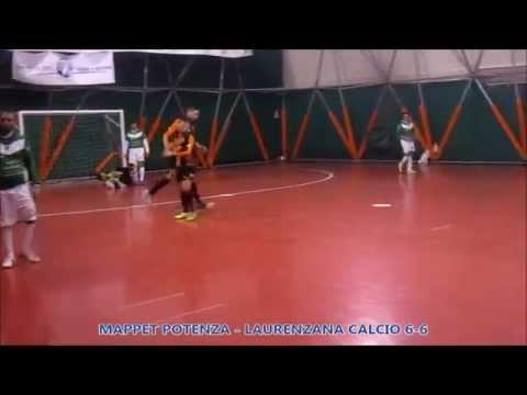 Preview video Video calcio a 5 Mappet Potenza-Laurenzana 6-6 Serie D girone B 4 giornata Potenza 28 novembre 2014