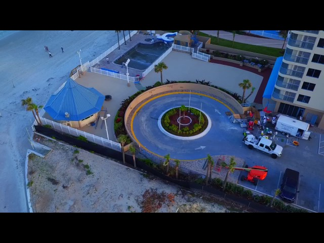 Beachfront Hotel Drone Shot