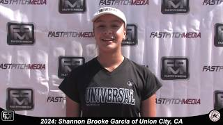 2024 Shannon Brooke Garcia Catcher Softball Skills Video - Universal Fastpitch