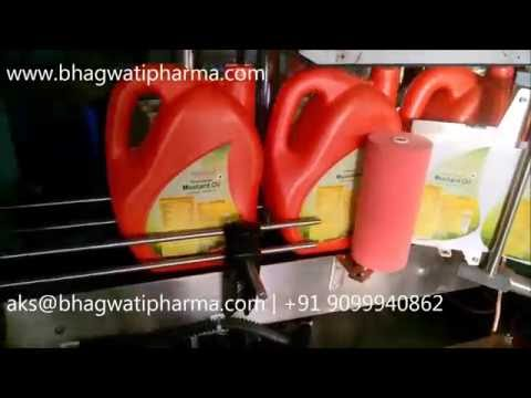Two Side Flat Bottle Sticker Labeling Machine