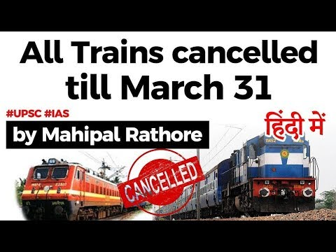 Why shutting public transport is important to fight coronavirus? India cancels all passenger trains