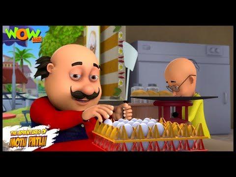 Motu Patlu New Episode | Cartoons | Kids TV Shows | Motu Patlu Omelette Pav Shop | Wow Kidz