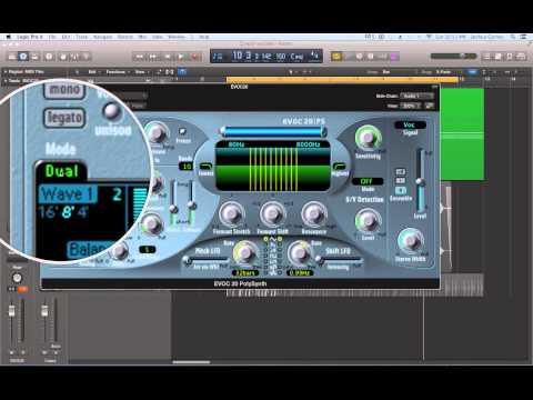 Logic Pro X – Video Tutorial 57 – EVOC20 Vocoder
