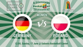 R. Šiškauskas Tournament: Germany vs Poland (Women)