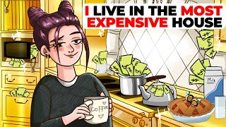 I Live in the Most Expensive House in the USA   Animated Story about Luxury