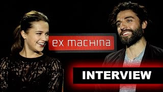 Ex Machina 2015 Interview! Oscar Isaac & Alicia Vikander - Beyond The Trailer