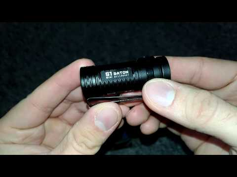 kleinste und hellste  Lampe 600 Lumen Olight S1 Baton Mini LED Taschenlampe Cree XM-L2 CW LED- IPX8