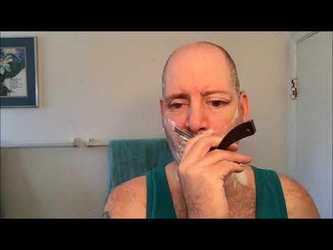 Gold dollar straight razor. - YouTube