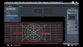 ArKaos MediaMaster Video Tutorial - 16. Tutorial on using the edge blending in the Video Mapper of MediaMaster 5