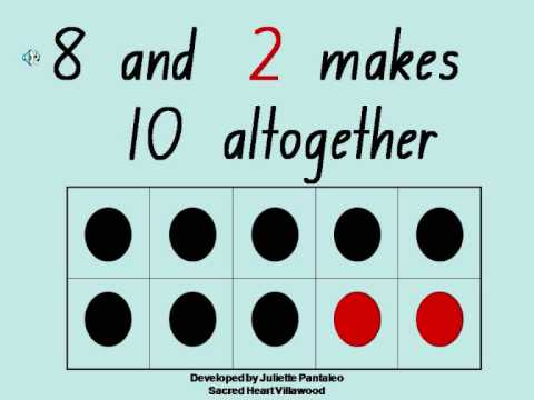 Screenshot of video: Number bonds using a grid like Numicon