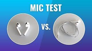 Apple AirPods Mic vs EarBuds Mic - Audio Quality Test