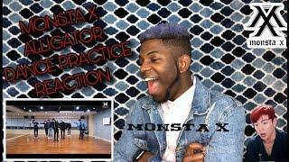 REACTION TO MONSTA X ALLIGATOR DANCE PRACTICE