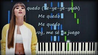 Aitana, Lola Indigo - Me Quedo | Piano Cover | Instrumental Karaoke Letra