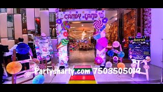 Candyland Theme Decoration | How To Make Candyland Party Decorations