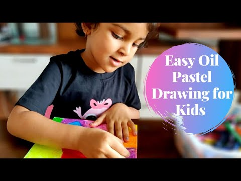 Easy Scratch Art using Oil Pastel | Easy Oil Pastel Drawing for Kids | Oil Pastel Art for Kids