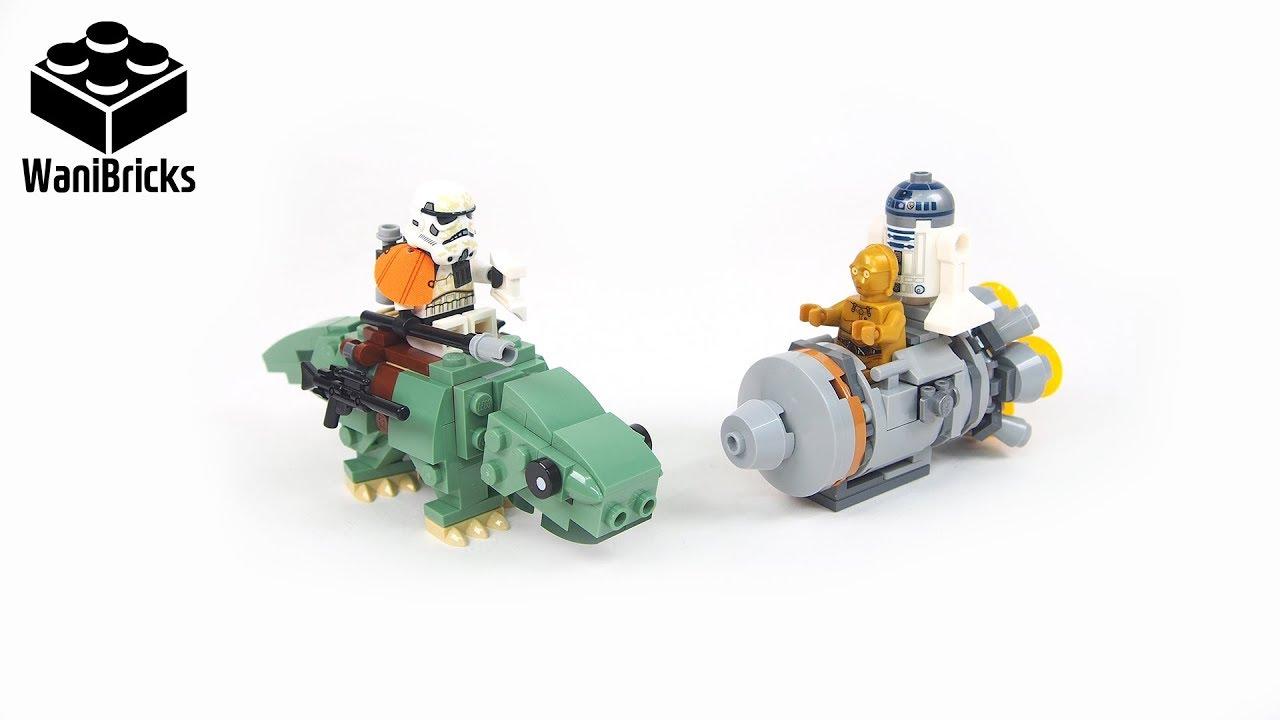 LEGO Starwars 75228 Escape Pod vs Dewback Microfighters - Lego Speed Build Review
