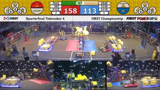 Quarterfinal Tiebreaker 4 - 2018 FIRST Championship - Houston - Turing Subdivision