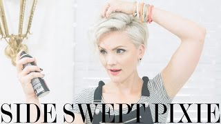 Side Swept Pixie Tutorial