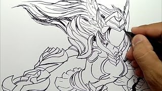 Speed Drawing Kagura Cherry Witch Mobile Legends 123vid