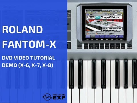 ± Free Watch Roland Fantom-X DVD Video Training Tutorial Help X6, X7, X8