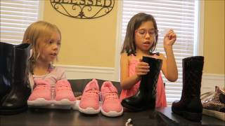 Unboxing New Michael Kors Black Leather Boots & Spotty Fly Shoes