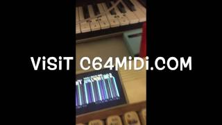 Testing Cynthcart 2 Midi With Dual SID Commodore 64