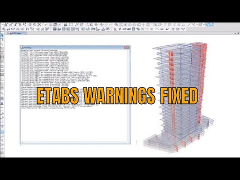 Remove Check Warnings and Fix Errors in ETABS Model
