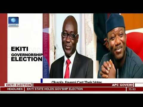 Ekiti Governorship Election Olusola, Fayemi Cast Their Votes
