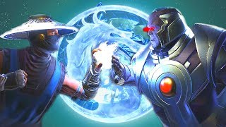 Injustice 2 - Raiden Vs Darkseid All Intro Dialogue/All Clash Quotes, Super Moves