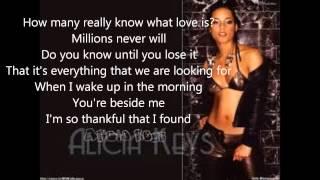 alicia keys like you'll never see me again with lyrics