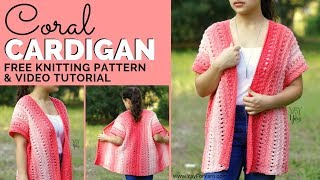 Coral Cardigan - Free Beginner-Friendly Knitting Pattern By Yay For Yarn