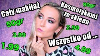 Cały Makijaż Kosmetykami Ze Sklepu Wszystko Od 50gr😵💰Najtańsze Kosmetyki Ever Test 7h 😱Vlog