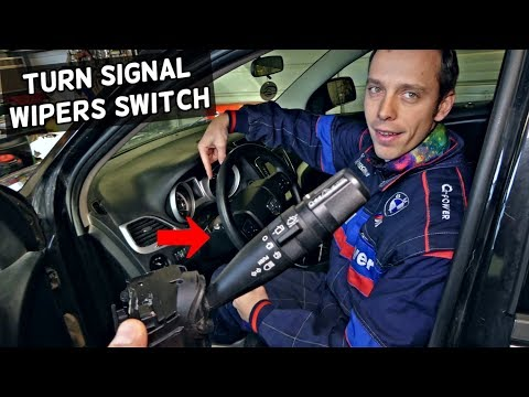 DODGE JOURNEY TURN SIGNAL SWITCH WIPERS SWITCH REMOVAL REPLACEMENT. FIAT FREEMONT