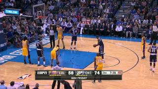 Lakers vs oklaomacity 2013