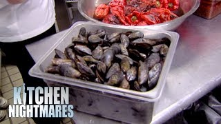 Restaurant Has A Box Of DEAD, Open, Dirty Mussels | Kitchen Nightmares